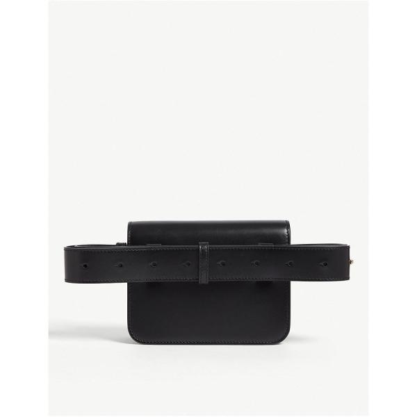 バーバリー burberry レディース ボディバッグ・ウエストポーチ バッグ tb logo leather belt bag Black