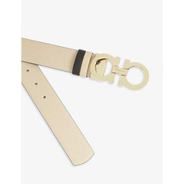 サルヴァトーレ フェラガモ SALVATORE FERRAGAMO レディース ベルト Gancini logo belt Bone