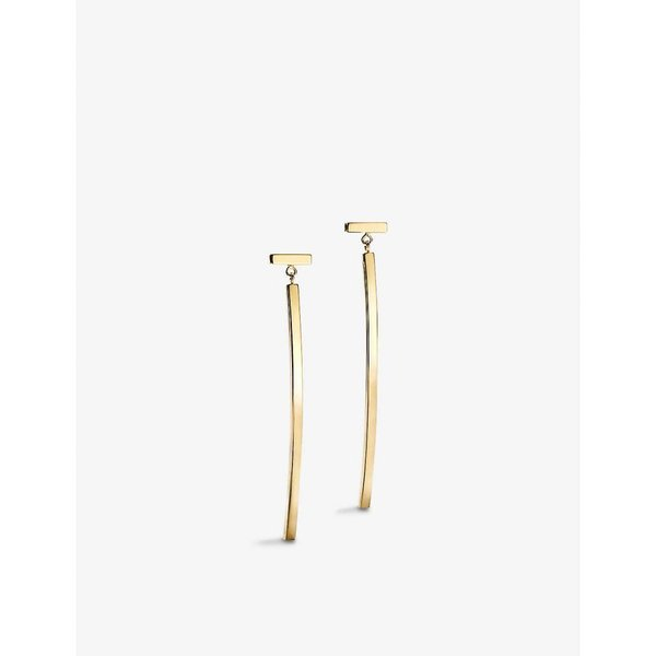 ティファニー TIFFANY & CO レディース イヤリング・ピアス ジュエリー・アクセサリー Tiffany T 18ct yellow-gold wire bar earrings GOLD