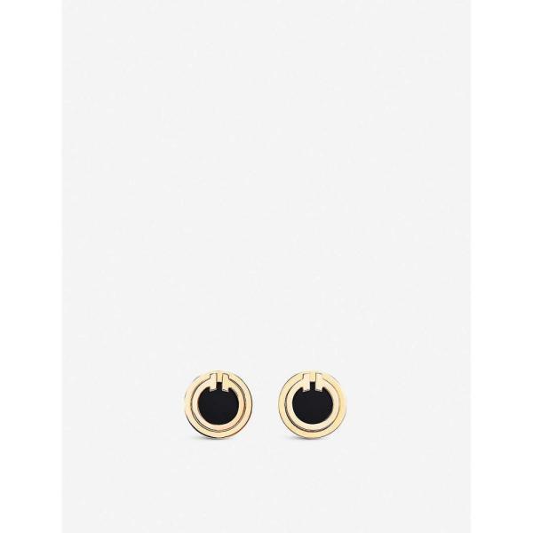 ティファニー TIFFANY & CO レディース イヤリング・ピアス ジュエリー・アクセサリー Tiffany T 18ct yellow-gold and onyx earrings GOLD