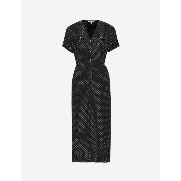 マージュ MAJE レディース オールインワン ジャンプスーツ ワンピース?ドレス Pastel polka-dot satin jumpsuit BLACK WHITE|fermart3-store|01