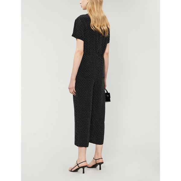 マージュ MAJE レディース オールインワン ジャンプスーツ ワンピース?ドレス Pastel polka-dot satin jumpsuit BLACK WHITE|fermart3-store|03