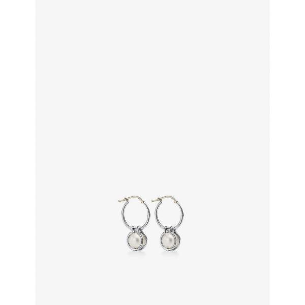 ティファニー TIFFANY & CO ユニセックス イヤリング・ピアス フープピアス Tiffany City HardWear sterling silver and freshwater pearl hoop earrings