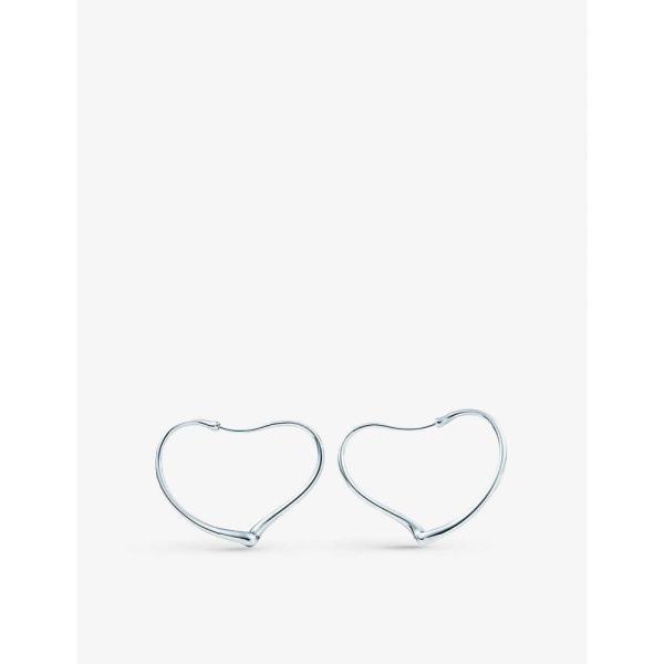 ティファニー TIFFANY & CO ユニセックス イヤリング・ピアス フープピアス Elsa Peretti Open Heart sterling silver hoop earrings STERLING SILVER