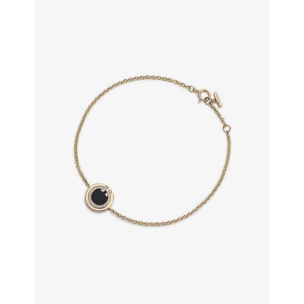 ティファニー TIFFANY & CO ユニセックス ブレスレット ジュエリー・アクセサリー Tiffany T 18ct gold, 0.04ct diamond and onyx bracelet 18K GOLD