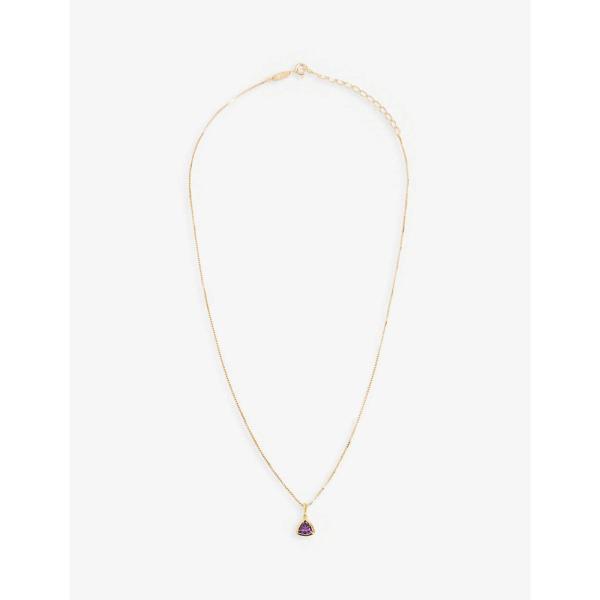 エッジオブエンバー EDGE OF EMBER レディース ネックレス チャーム ジュエリー・アクセサリー Amethyst Charm 18k gold-plated necklace GOLD