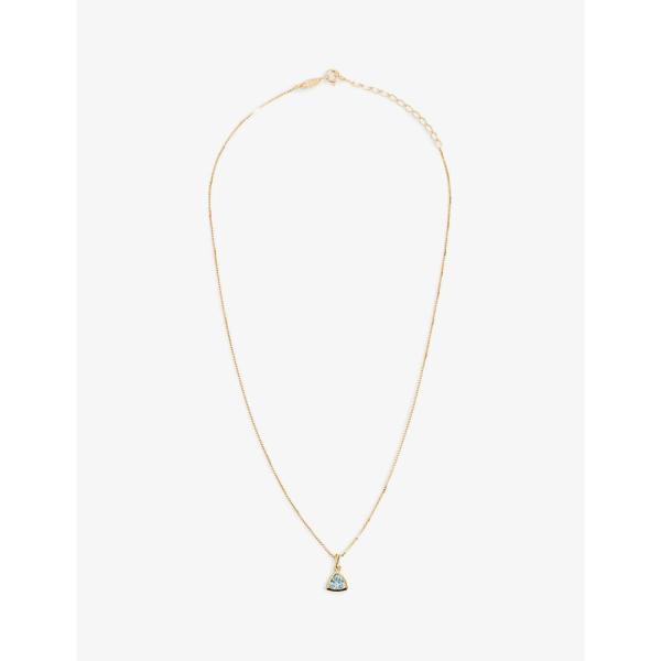 エッジオブエンバー EDGE OF EMBER レディース ネックレス チャーム ジュエリー・アクセサリー Blue Topaz Charm 18K Gold-Plated Necklace GOLD