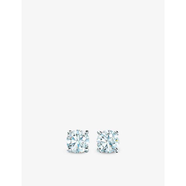 ティファニー TIFFANY & CO ユニセックス イヤリング・ピアス Tiffany Solitaire platinum and 0.29ct round brilliant-cut diamond stud earrings