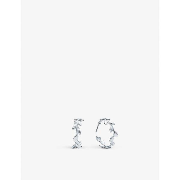 ティファニー TIFFANY & CO レディース イヤリング・ピアス フープピアス Paloma Picasso Olive Leaf sterling silver hoop earrings SILVER