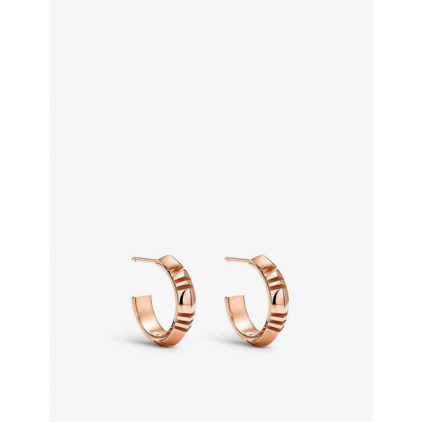 ティファニー TIFFANY & CO ユニセックス イヤリング・ピアス フープピアス Atlas X 18ct rose-gold small hoop earrings ROSE GOLD