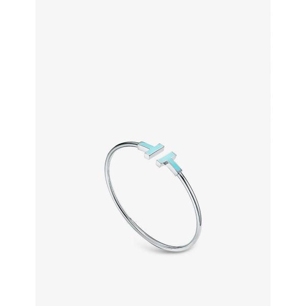 ティファニー TIFFANY & CO レディース ブレスレット ジュエリー・アクセサリー Tiffany T Wire 18ct white-gold and turquoise bracelet WHITE GOLD