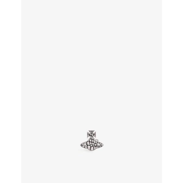 ヴィヴィアン ウエストウッド VIVIENNE WESTWOOD メンズ イヤリング・ピアス Valerio orb silver-toned brass earring Antique Rhodium