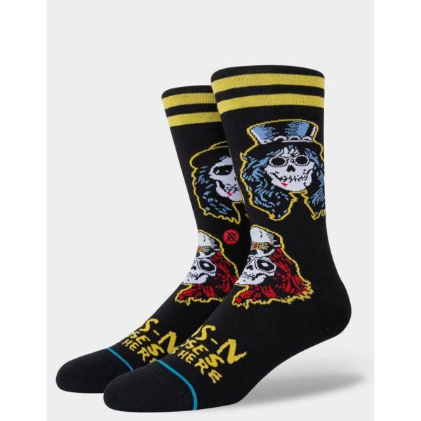 スタンス STANCE メンズ ソックス インナー・下着 Guns N' Roses Appetite For Destruction Crew Socks BLACK COMBO