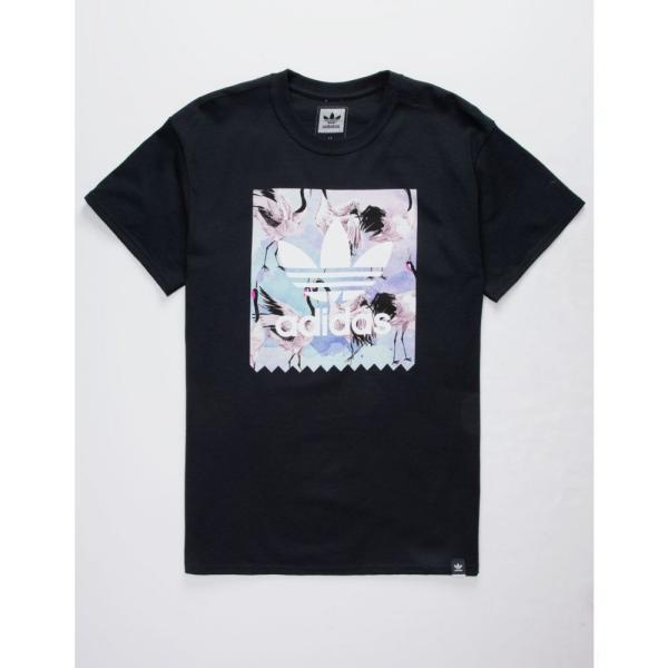 アディダス ADIDAS メンズ Tシャツ トップス Water Crane BB Black T-Shirt BLACK|fermart3-store