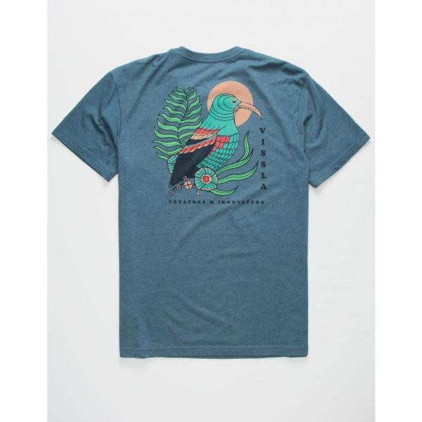 ヴィスラ VISSLA メンズ Tシャツ トップス I'iwi Everyday Heather Navy T-Shirt HEATHER NAVY|fermart3-store