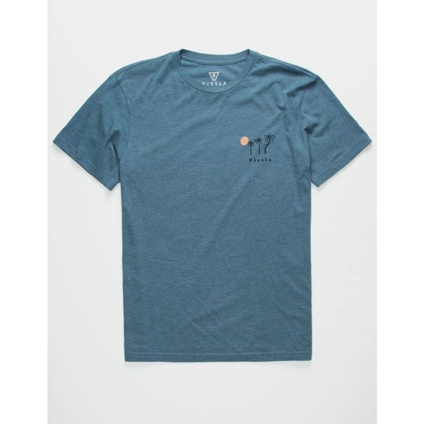 ヴィスラ VISSLA メンズ Tシャツ トップス I'iwi Everyday Heather Navy T-Shirt HEATHER NAVY|fermart3-store|02