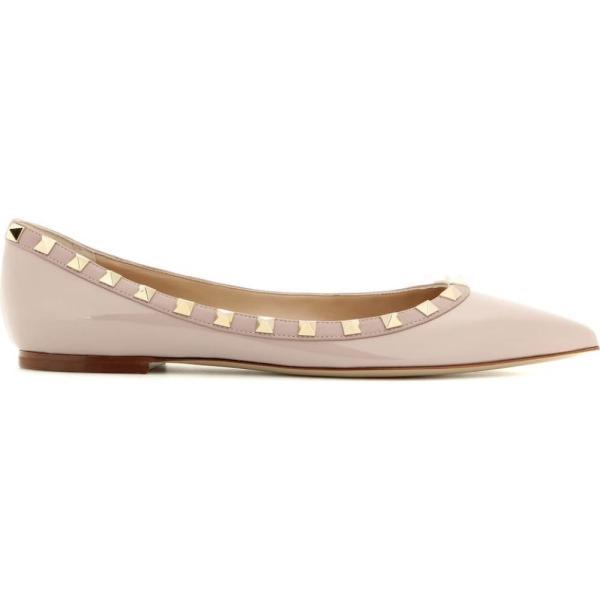 ヴァレンティノ Valentino レディース フラット シューズ・靴 Valentino Garavani Rockstud patent leather ballerinas