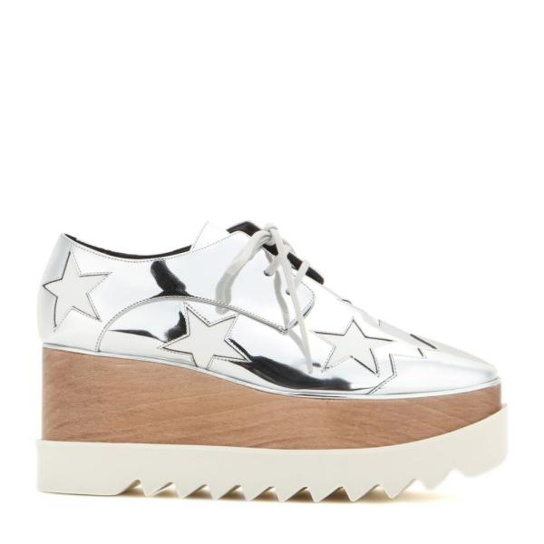 ステラ マッカートニー Stella McCartney レディース ローファー・オックスフォード シューズ・靴 Britt metallic platform derby shoes Indium/White