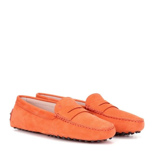 トッズ Tod's レディース ローファー・オックスフォード シューズ・靴 Gommino suede loafers Corallo