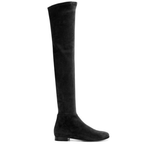 ジミー チュウ レディース ブーツ シューズ・靴 Myren Flat suede over-the-knee boots BLACK