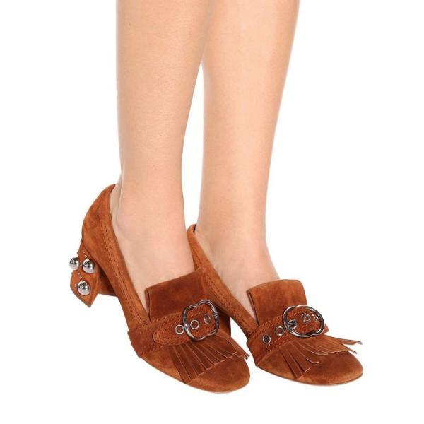 ミュウミュウ Miu Miu レディース パンプス シューズ・靴 Suede pumps Palissandro