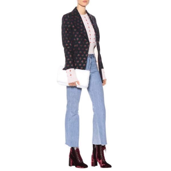 ミュウミュウ Miu Miu レディース ブーツ シューズ・靴 Lace-up velvet ankle boots Bordeaux