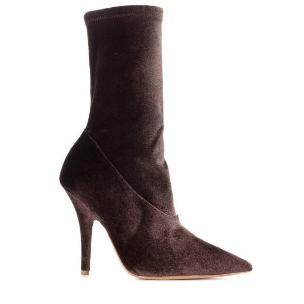 アディダス イージー レディース ブーツ シューズ・靴 Velvet ankle boots (SEASON 5) Mink