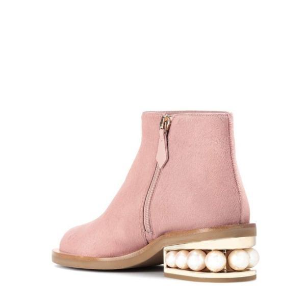 ニコラス カークウッド Nicholas Kirkwood レディース ブーツ シューズ・靴 Casati calf hair ankle boots Beige
