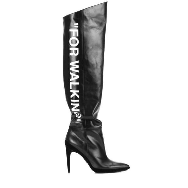 オフ-ホワイト Off-White レディース ブーツ シューズ・靴 Leather boots Black Whit