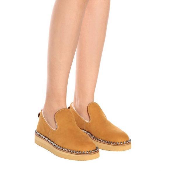 アレキサンダー ワン Alexander Wang レディース スリッパ シューズ・靴 Tedi shearling-lined slippers Wheat