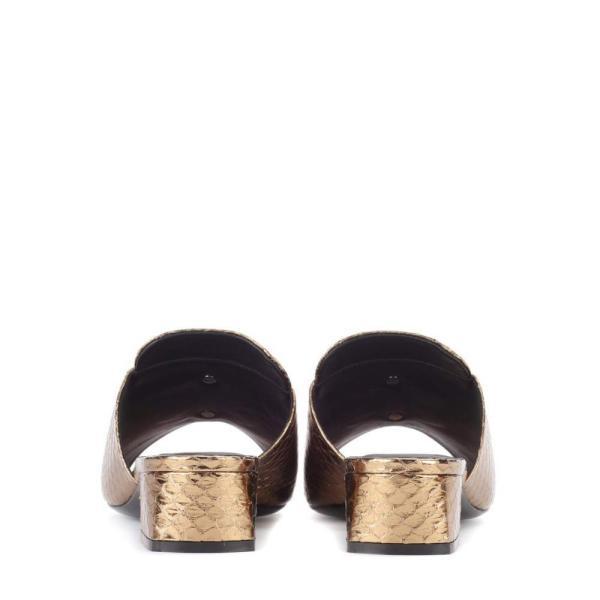 ロジェ ヴィヴィエ Roger Vivier レディース サンダル・ミュール シューズ・靴 Slipper New Strass sandals Gold