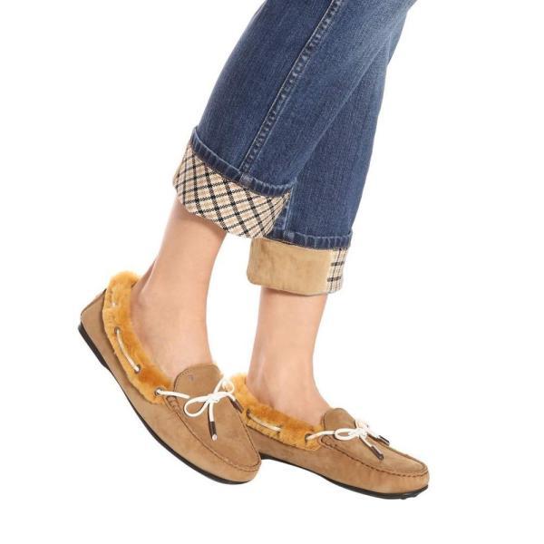 トッズ Tod's レディース ローファー・オックスフォード シューズ・靴 City Gommino suede loafers Camel