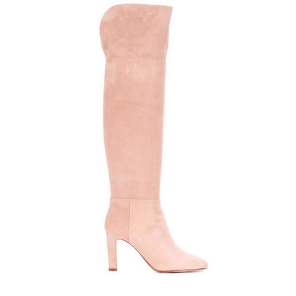 ガブリエラ ハースト Gabriela Hearst レディース ブーツ シューズ・靴 Linda suede over-the-knee boots Light Pink