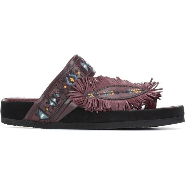 イザベル マラン Isabel Marant レディース サンダル・ミュール シューズ・靴 Ebann leather sandals Burgundy