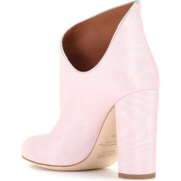 マローンスリアーズ レディース ブーツ シューズ・靴 Eula 50 moire ankle boots Rose/Silver