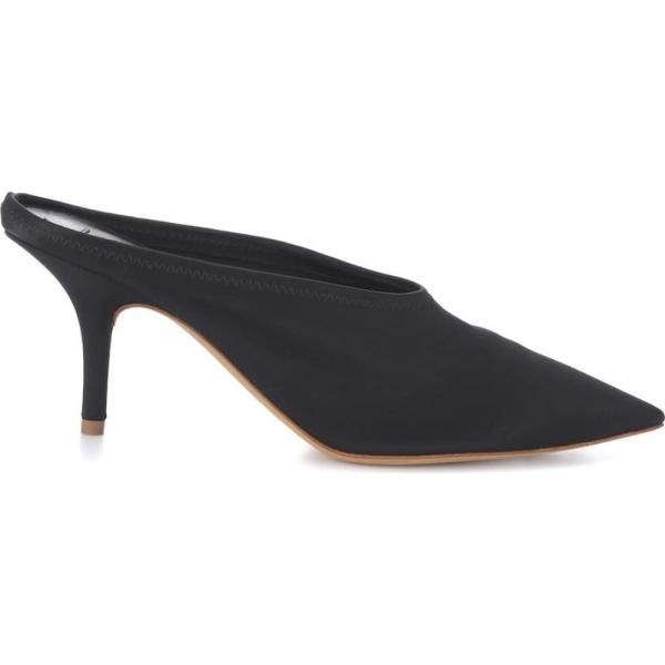 アディダス イージー レディース サンダル・ミュール シューズ・靴 Satin mules (SEASON 6) Black