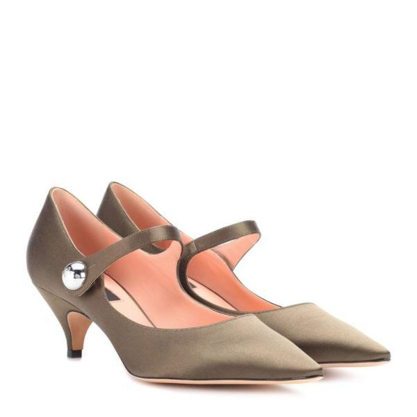 ロシャス Rochas レディース パンプス シューズ・靴 Satin Mary Jane pumps Kaki