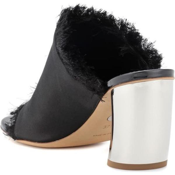 プロエンザ スクーラー Proenza Schouler レディース サンダル・ミュール シューズ・靴 Satin mules Black