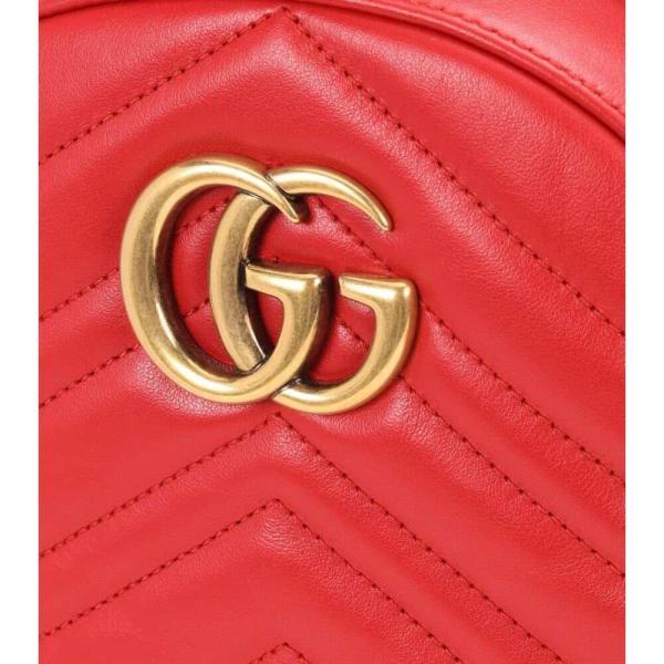グッチ レディース バックパック・リュック バッグ GG Marmont matelasse leather backpack Hibiscus Red