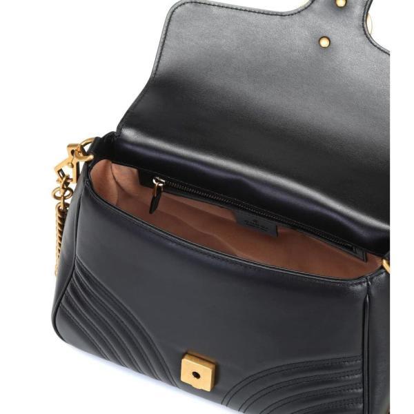 グッチ レディース ショルダーバッグ バッグ GG Marmont Small leather shoulder bag Nero/Nero