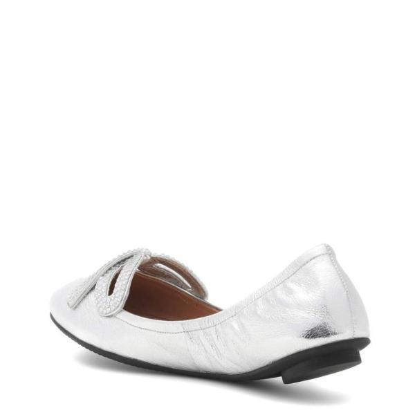 マーク ジェイコブス Marc Jacobs レディース スリッポン・フラット シューズ・靴 Metallic leather ballerinas Silver