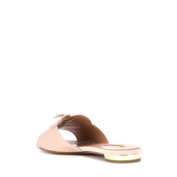 アクアズーラ Aquazzura レディース サンダル・ミュール シューズ・靴 Heartbeat crystal-embellished slides