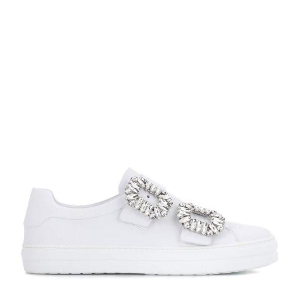 ロジェ ヴィヴィエ レディース スニーカー シューズ・靴 Sneaky Viv leather sneakers White