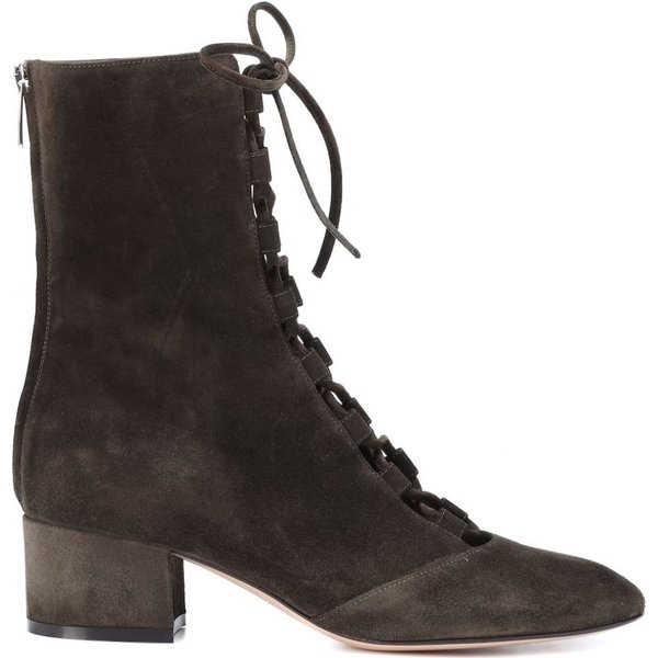ジャンヴィト ロッシ レディース ブーツ シューズ・靴 Delia suede ankle boots Dark Olive