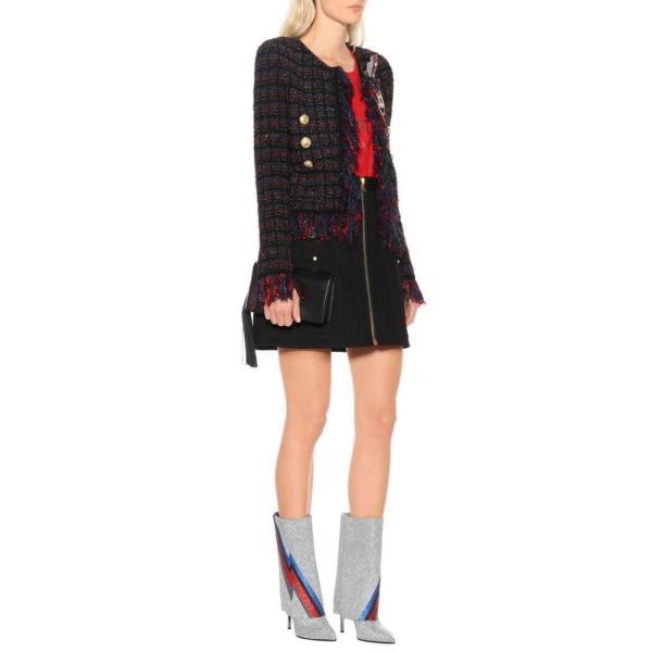 バルマン Balmain レディース ブーツ シューズ・靴 Demi glittered ankle boots Multicolor
