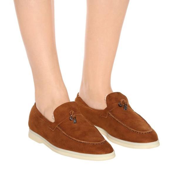 ロロピアーナ Loro Piana レディース ローファー・オックスフォード シューズ・靴 Summer Charms Walk suede loafers Camel