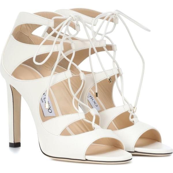 ジミー チュウ レディース サンダル・ミュール シューズ・靴 Blake 100 leather sandals Chalk