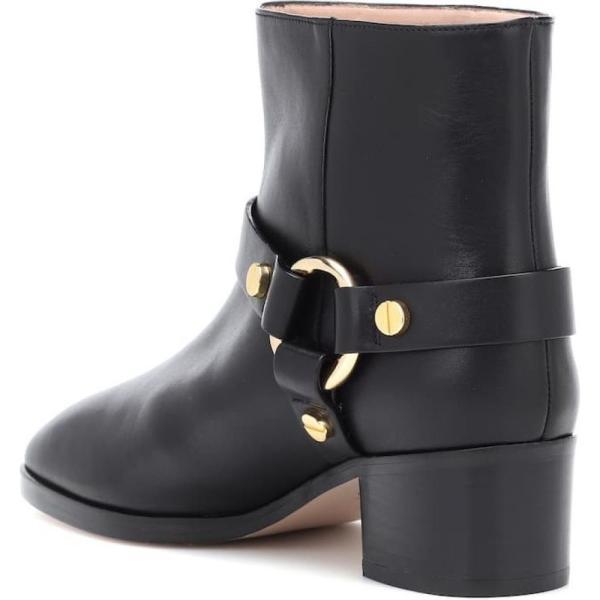 スチュアート ワイツマン レディース ブーツ シューズ・靴 Expert leather ankle boots Black