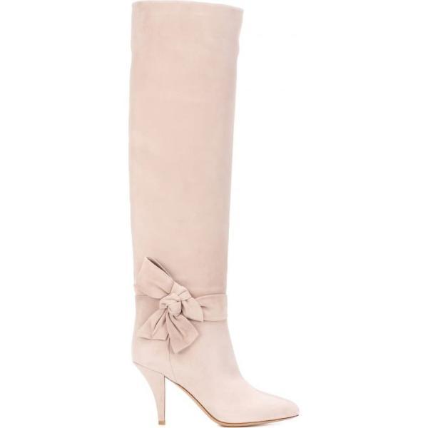 ヴァレンティノ レディース ブーツ シューズ・靴 Valentino Garavani knee-high suede boots Poudre