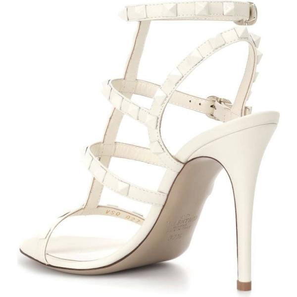 ヴァレンティノ レディース サンダル・ミュール シューズ・靴 Valentino Garavani Rockstud leather sandals White